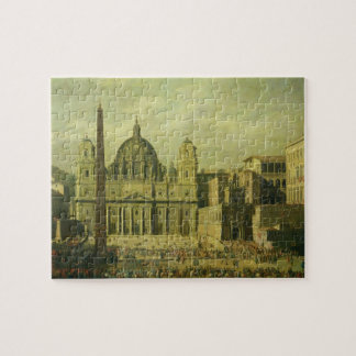 St. Peter's, Rome, 1630 (oil on canvas) Jigsaw Puzzle