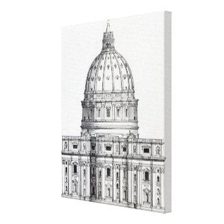 St. Peter's, Rome Canvas Print