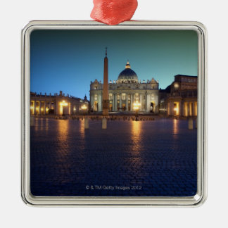 St Peters Square, Rome, Italy Christmas Ornament