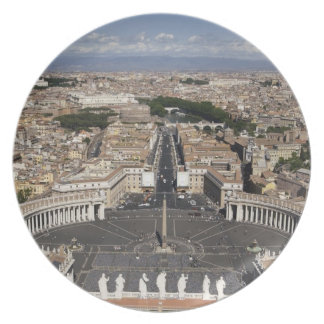 St Peters Square, Rome Plate