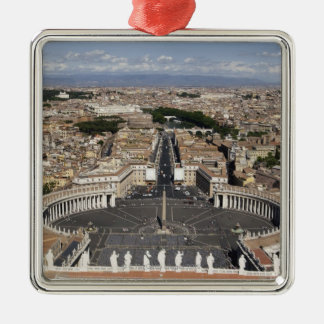 St Peters Square, Rome Silver-Colored Square Decoration
