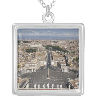 St Peters Square, Rome Silver Plated Necklace