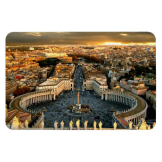 St Peter's Square Vatican Rectangular Photo Magnet
