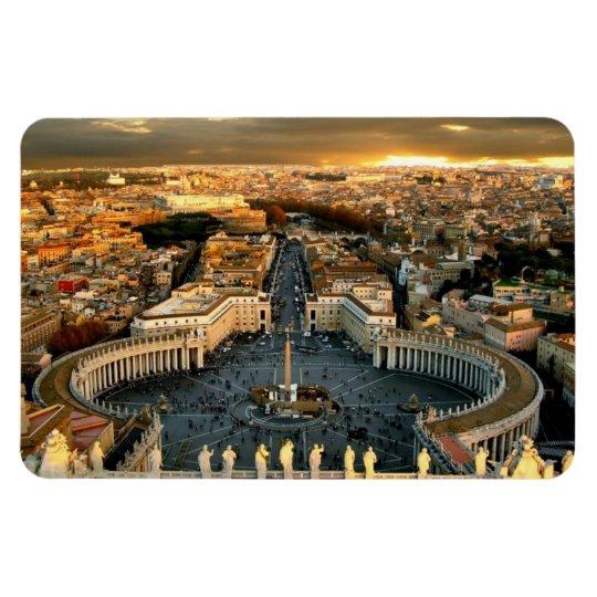 St Peter's Square Vatican Rectangular Photo Magnet