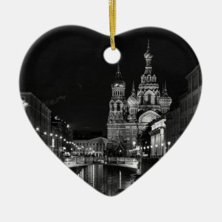 St Petersburg at night Christmas Ornament