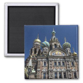 St Petersburg church, Russia Square Magnet