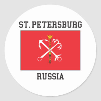St Petersburg Classic Round Sticker