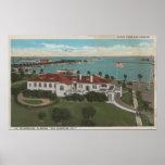St. Petersburg, FL - Aerial of Yacht Club & Poster