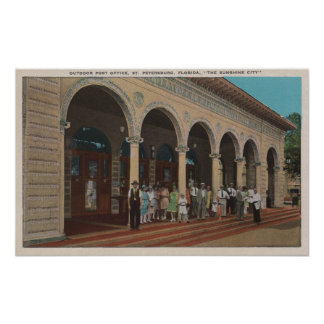 St. Petersburg, FL - Exterior View of Post Poster