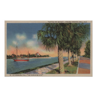St. Petersburg, FL - View of Coffee Pot Poster