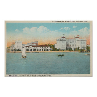 St. Petersburg, FL - Waterfront View of Soreno Poster