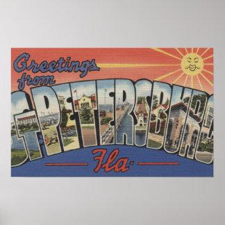 St. Petersburg, Florida - Large Letter Scenes 2 Poster