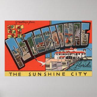 St. Petersburg, Florida - Large Letter Scenes 3 Poster