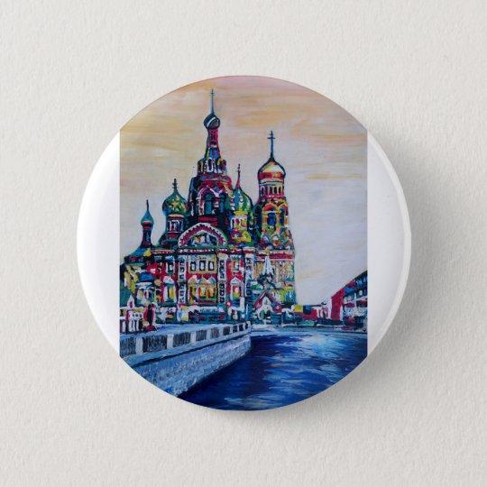 St Petersburg I 6 Cm Round Badge
