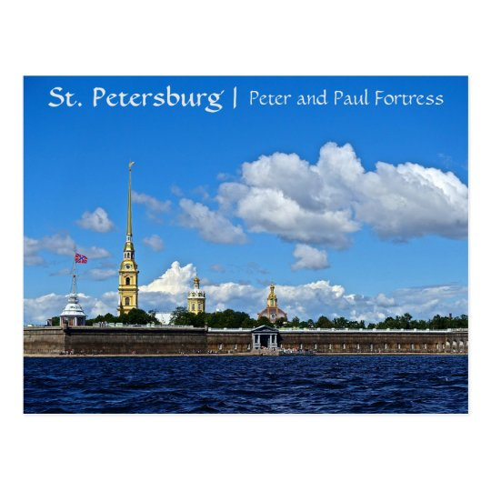 St. Petersburg, Peter and Paul Fortress Postcard
