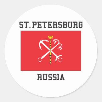 St Petersburg Round Sticker