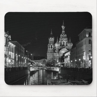 St Petersburg Russia Black and White Mousepad