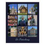 St Petersburg Russia Photo Collage Poster