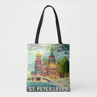 St.petersburg Russia Vintage Travel Vacation Tote Bag