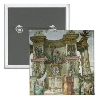 St. Philip Exorcising a Demon, c.1497-1500 15 Cm Square Badge
