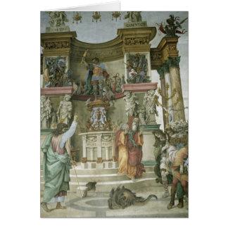 St Philip Exorcising a Demon c 1497-1500 Card