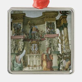 St. Philip Exorcising a Demon, c.1497-1500 Silver-Colored Square Decoration