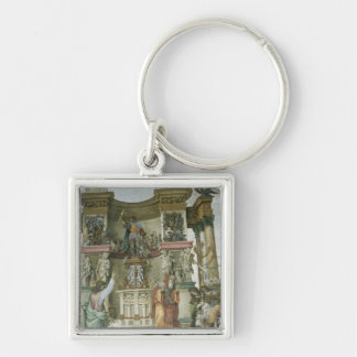 St. Philip Exorcising a Demon, c.1497-1500 Silver-Colored Square Key Ring