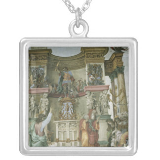 St. Philip Exorcising a Demon, c.1497-1500 Silver Plated Necklace