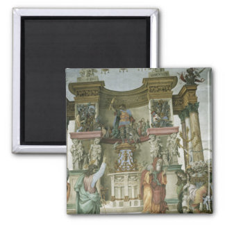 St. Philip Exorcising a Demon, c.1497-1500 Square Magnet