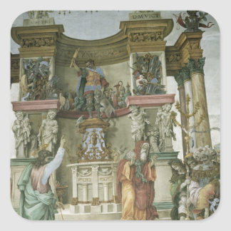 St Philip Exorcising a Demon c 1497-1500 Square Stickers
