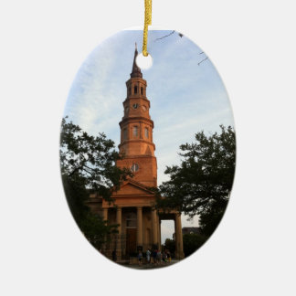 St. Philip's Episcopal Church Charleston Christmas Ornament
