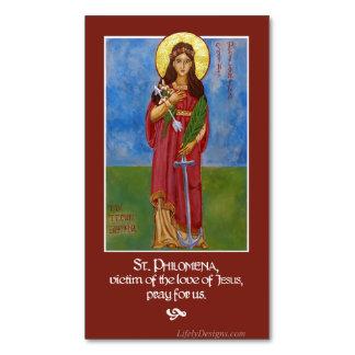 St. Philomena Icon Prayer Magnets (25 pk)