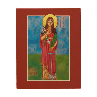 "St. Philomena Wood Print Icon - 8"" x 10"""