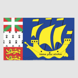 St Pierre Miquelon flag sticker