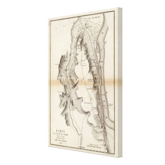 St Pierre Plateau Atlas Map Canvas Print