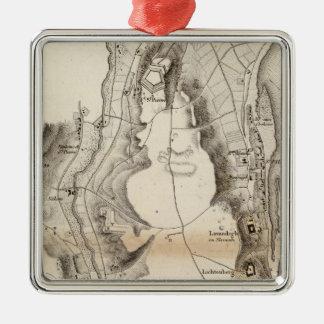 St Pierre Plateau Atlas Map Christmas Ornament