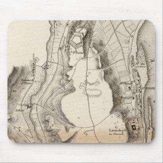 St Pierre Plateau Atlas Map Mouse Mat