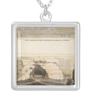 St Pierre Plateau Silver Plated Necklace