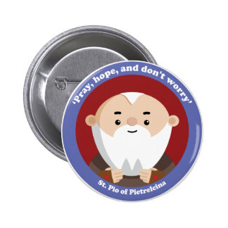 St Pio of Pietrelcina 6 Cm Round Badge