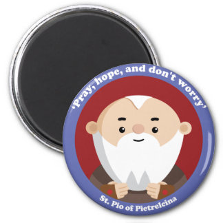 St Pio of Pietrelcina 6 Cm Round Magnet