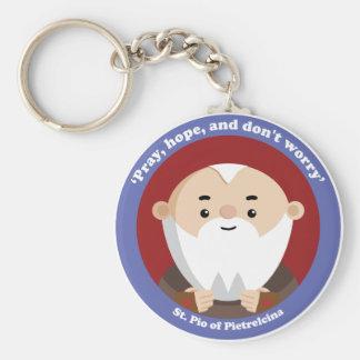 St Pio of Pietrelcina Basic Round Button Key Ring