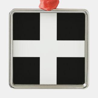 St Piran s Flag Cornwall Kernow Christmas Tree Ornament