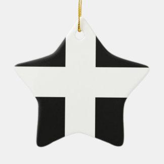 St Piran s Flag Cornwall Kernow Christmas Ornaments