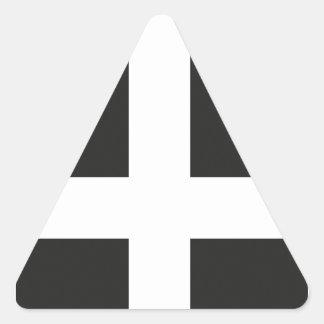 St Piran s Flag Cornwall Kernow Triangle Stickers