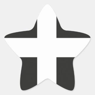 St Piran s Flag Cornwall Kernow Star Stickers