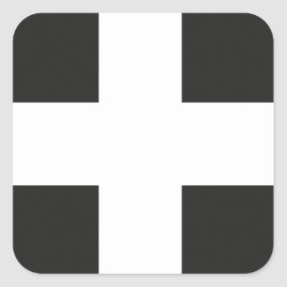 St Piran s Flag Cornwall Kernow Square Stickers