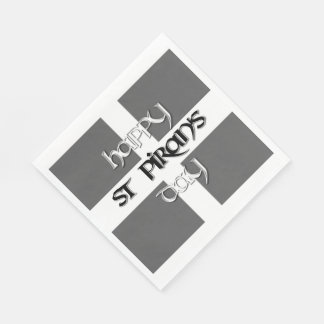 St Piran's Day with Cornish Flag Disposable Napkins