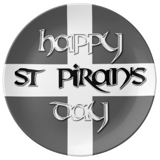 St Piran's Day with Cornish Flag Porcelain Plates