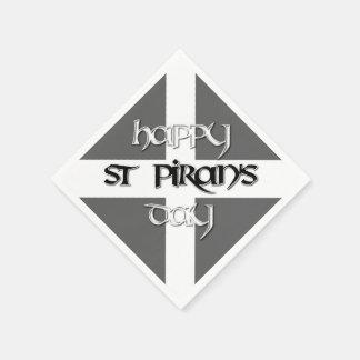 St Piran's Day with Cornish Flag Disposable Serviette