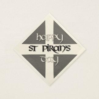 St Piran's Day with Cornish Flag Paper Napkins
